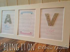 Bling it on with a personalised print from Dollie Graphics