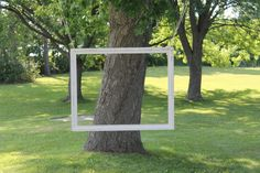 I love hanging picture frames for outdoor photo booths