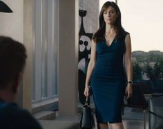 Loved seeing our classic 'Joni' dress on the season 3 premiere of @sho_billions on #MaggieSiff