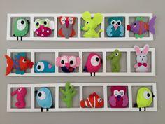 Decoration originale unique et coloré pour chambre de bébé. Fait ...