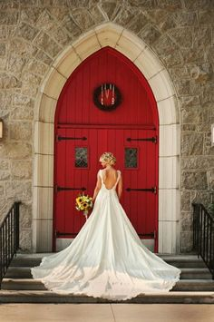 Bride: backless with a long train