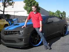 Camaro painted with Spray In Bedliner Material by Line X
