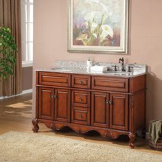 "Prieto 60"" Double Sink Vanity By Valore"