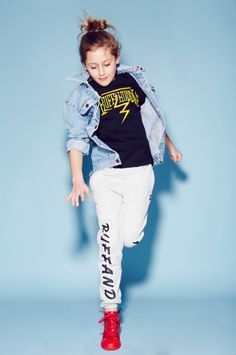 Graphic logo prints for Ruff and Huddle summer 2015 kids fashion collection