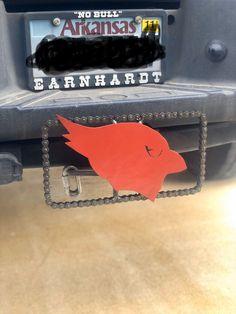 Cardinals hitch cover #cardinals #ArizonaCardinals #NFL Truck Hitch, Roller Chain, Mike Jackson, Scrap Material, Sheet Metal, Cardinals, Metal Art, Repurposed, Cow