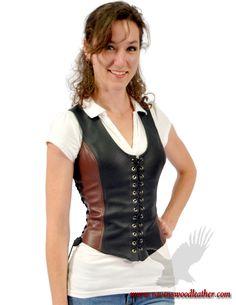 Bodice Huntress Leather Corset