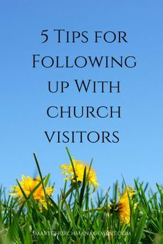 Every church that has a desire to grow understands that growth comes from visitors who convert to members.