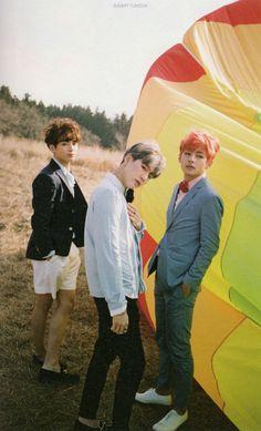 BTS Jungkook, Suga, & V