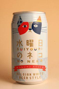 水曜日のネコ (Wednesday cat) beer can design