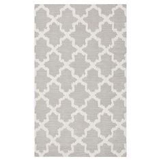 Breezy Lattice Rug- For ruthie? would be better than black and white since the bedding is more subdued