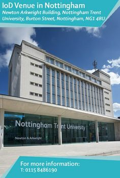 #Members can make use of the #facilities at the prestigious #Nottingham Conference Centre in #Nottingham Trent University's Newton Building, which now houses our #Director's Lounge and #meeting room #facilities. This #citycentre location is opposite the #RoyalConcertHall. Find out more: http://www.iod.com/your-venues-and-benefits/iod-venues/nottingham
