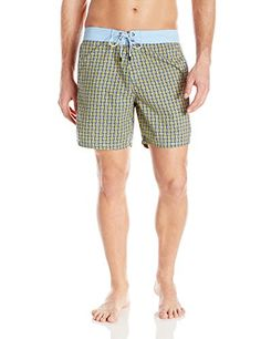 630795fae3 Mr. Swim Men's Woven Print Swim Trunk, Blue, 28 Mr. Swim http