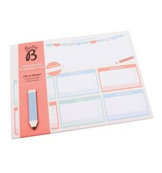NEW! Busy B KTwo Homework Planner Weekly Chart Organiser + Magnet in Home…