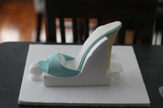 Edible high heel shoe & garter cake! Behind the scenes photos and info on how it was made...