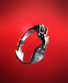 Sexy Mermaid Ring Sterling Silver by RichieStubStudio on Etsy