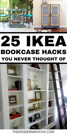 This is all about the IKEA Billy Bookcase hack! From a built in look or adding some extra storage space to expanding your closet with doors, these IKEA Billy bookcase hacks and ideas will help you organize and maximize any home living space. Save this for the best IKEA furniture hacks and storage ideas! #ikeahacks #ikea #billybookcase #furniturehacks #furniture Ikea Dresser Hack, Ikea Billy Bookcase Hack, Ikea Hack, Extra Storage Space, Storage Spaces, Ikea Furniture Hacks, Closet Hacks, Best Ikea, Storage Ideas
