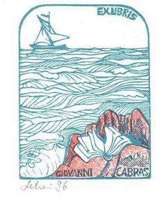 Ex libris di Mariaelisa Leboroni per Giovanni Cabras