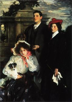 Hylda, Almina and Conway, Children of Asher Wertheimer, 1905  John Singer Sargent. [Real Downton Abbey (AKA Highclere Castle) Residence]