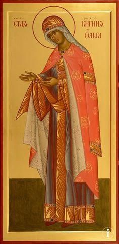St Olga, Equal to the Aostles Religious Images, Religious Icons, Religious Art, Olga Of Kiev, Church Icon, Orthodox Christianity, Orthodox Icons, Renaissance Art, Christian Art