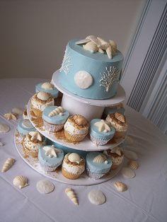 Beach Wedding CupCake Towers; Wilmington, NC Carolina Cakes & Confections by Carolina Cakes & Confections, via Flickr