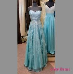 Light Blue Prom Dresses,Sparkle Prom Dress,Chiffon Prom Gown,Beaded Prom Dresses,Evening Gowns,New Evening Dresses PD20181629