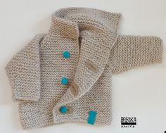 Light gray Baby Bazzooka jacket. BAMBINO BAZZOOKA. $45.00, via Etsy.