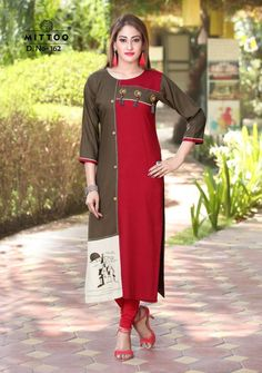 Mittoo Payal Vol 5 Kurti Wholesale Catalog 8 Pcs Kurtha Designs, Suits For Women, Clothes For Women, Ladies Suits, Rayon Kurtis, Latest Kurti, Kurti Collection, Embroidery Fashion, Embroidery Kits