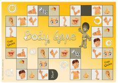Et hop ! un nouveau petit jeu à essayer ! Le but du jeu est de compléter son dessin du corps humain le premier. Matériel: le plateau de jeu un dé une plaque de jeu individuelle / joueur On se dépla…