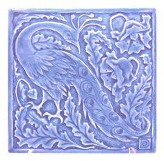 Periwinkle Peacock Tile