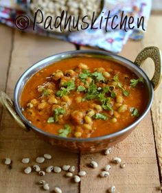 Lobia Curry-Black Eyed Bean Curry: simply laid out: uses ginger, coconut, chili, coriander, cumin, garam marsala, turmeric, cumin, curry leaves