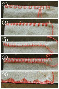 Blanket stitch variations