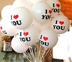 10pcs I Love You Balloon Party Wedding Valentine's Day Decoration White Pretty Box