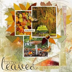 COLORFUL LEAVES: It's so great to walk in the woods in fall.  I made this page with Artful Marks Autumn from Jen Maddocks, available at Digital Scrapbooking Studio here: https://www.digitalscrapbookingstudio.com/jen-maddocks-designs/ Also used: Artisan Favorite Templates no.11 from Jen Maddocks at DSS.