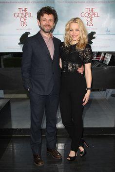Rachel McAdams and her boyfriend Michael Sheen at The Gospel of Us premiere
