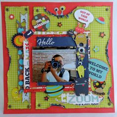 Layout infantil Blast Off Kaisercraft Scrapbooking Ideas, Scrapbook Cards, Scrapbook Layouts, Hello Welcome, General Crafts, Layout Inspiration, School, December, Creativity