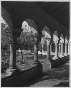 The Metropolitan Museum of Art, The Cloisters: Cuxa Cloister; View looking east. Photographed on October 5, 1939.
