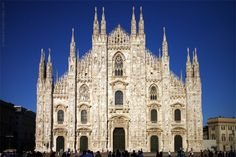 #Milan #Cathedral - The #Gothic cathedral took nearly six centuries to complete. It is the fifth largest cathedral in the world