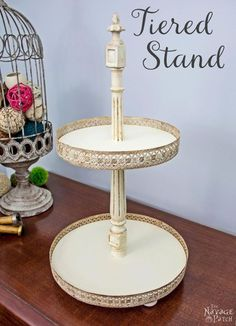 tiered stand, crafts, diy, how to, repurposing upcycling, woodworking projects
