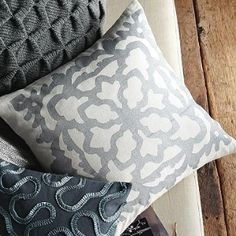 west elm snowflake pillow