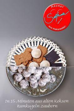 Rumkugeln - ein ganz einfaches Rezept - upcycling von alten Keksen zu einem tollen DIY Geschenk