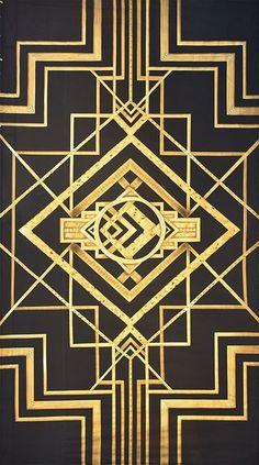 Motif Art Deco, Art Deco Pattern, Art Deco Design, Print Patterns, Invitaciones Art Deco, Kilt Pattern, Graphic Pattern, Art Nouveau, Graphic Design Lessons