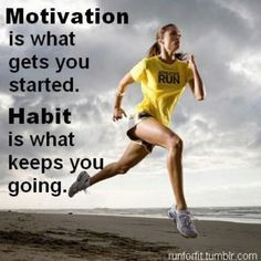 So far I am stuck in the motivation phase..... I think habit is a looong way away! LOL