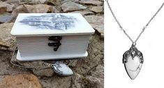 Elven Jewellery box and pendant hand-painted box elven art