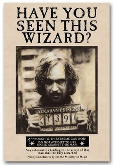 Harry Potter Poster Wanted Prisoner of Azkaban