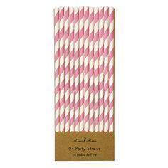 Meri Meri Strohhalme rosa weiß gestreift aus Papier - Bonuspunkte sammeln, Kauf auf Rechnung, DHL Blitzlieferung!