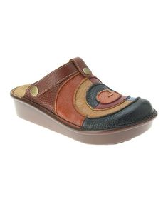 Another great find on #zulily! Blue Lollipop Leather Clog #zulilyfinds