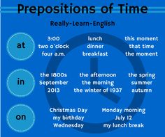 Prepositions of Time downloadable workbook