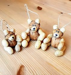 Diy And Crafts, Crafts For Kids, Christmas Diy, Christmas Ornaments, Cute Bears, Nature Crafts, Xmas Cards, Early Childhood, Advent