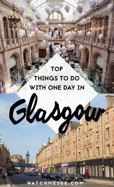 One Day in Glasgow: Seeing the Best of Glasgow in 24 Hours Wondering what to do with only one day in Glasgow, Scotland? Here are all the top things to do and see! Scotland Vacation, Scotland Travel, Ireland Travel, Scotland Trip, Scotland Tours, Travel Europe, England Ireland, England And Scotland, Eurotrip