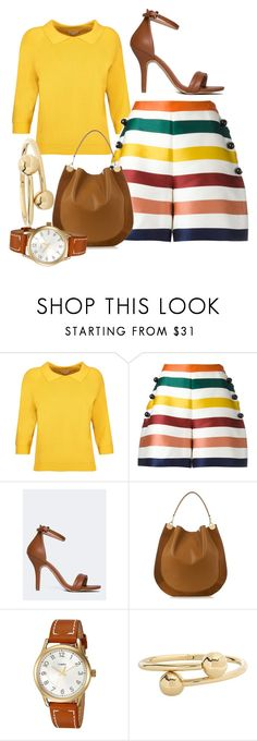 """Untitled #11"" by fayehueston ❤ liked on Polyvore featuring Totême, Carolina Herrera, J. Adams, Diane Von Furstenberg, Timex and J.W. Anderson"
